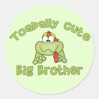 Toadally Cute Big Brother Round Sticker