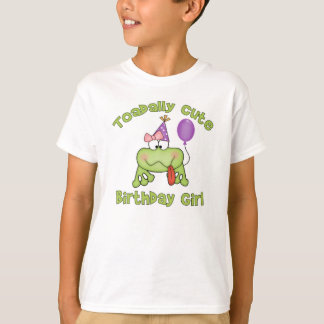 Toadally Cute Birthday Girl T-Shirt