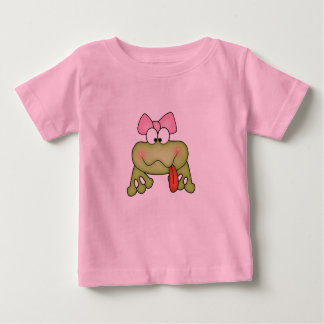 Toadally Cute Girl Frog Baby T-Shirt