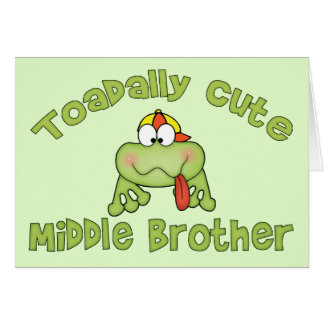 Toadally Cute Middle Brother Stationery Note Card