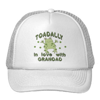 TOADALLY Love Grandad Frog Trucker Hat