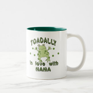 TOADALLY Love Nana Frog Two-Tone Mug