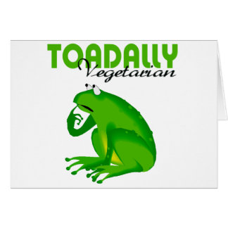 Toadally Vegetarian Greeting Card