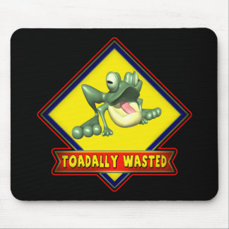 Toadally Wasted Beer T-shirts Gifts Mouse Pad