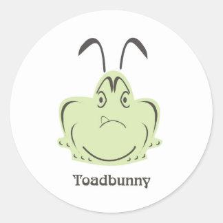 toadbunny 2 round sticker