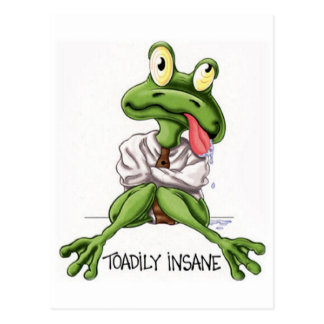 TOADILY INSANE POSTCARD