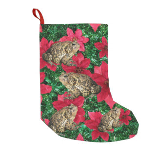 Toadly Awesome Poinsettia Toad Christmas Stocking
