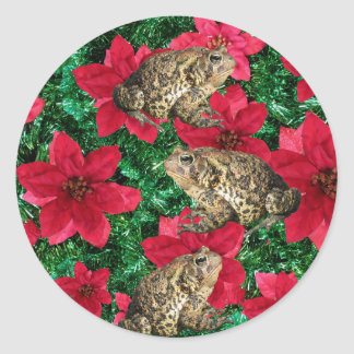 Toadly Awesome Toad Christmas Stickers
