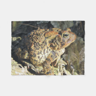 Toadly Awesome Toad Profile Fleece Blanket