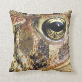 Toadly Close Up of Toad Throw Pillow