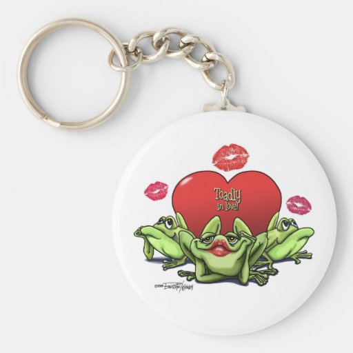 Toadly in Love Valentine Key Chain
