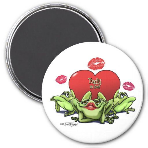 Toadly in Love Valentine Refrigerator Magnets
