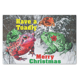 """Toadly Merry Christmas Toad Tissue Paper 10"""" X 15"""" Tissue Paper"""