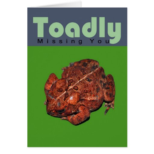 Toadly Missing You Greeting Card