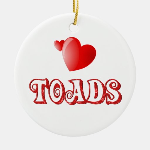 Toads Christmas Tree Ornaments