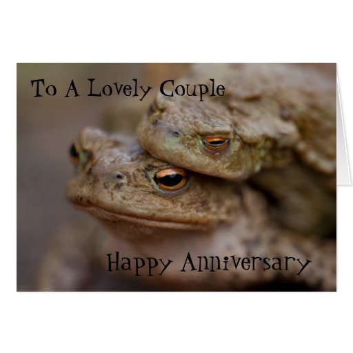 """Toads """"The Ugly Couple""""Happy Anniversary Card Greeting Card"""