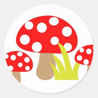 toadstool-220227  toadstool toadstools art cute re round sticker