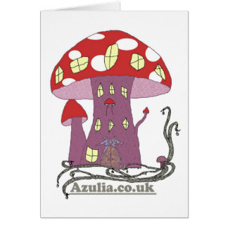 Toadstool Castle (colour) Greeting Card