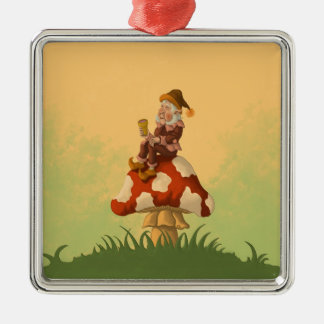 toadstool gnome christmas tree ornament