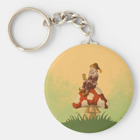 toadstool gnome key ring