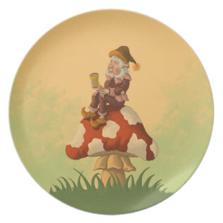 toadstool gnome plate