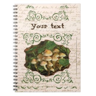 Toadstool Mushrooms Cute Swirls Notebook