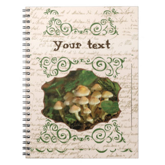 Toadstool Mushrooms Cute Swirls Notebooks
