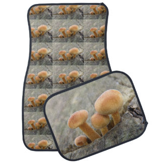 Toadstools on a Tree Trunk Car Mat Set
