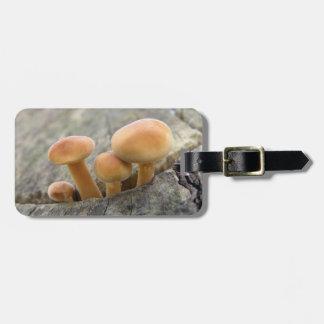 Toadstools on a Tree Trunk Custom Bag Tag
