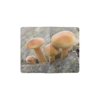 Toadstools on a Tree Trunk Notebook Cover