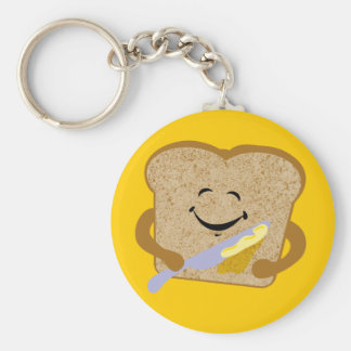 Toast And Butter Basic Round Button Key Ring