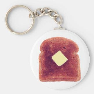 Toast! Basic Round Button Key Ring