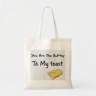 Toast Bread Love Words Bags