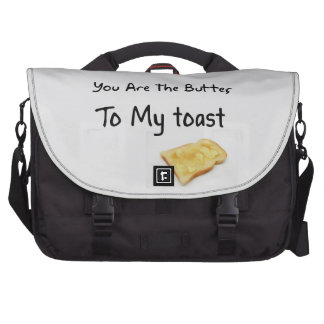 Toast Bread Love Words Bags For Laptop