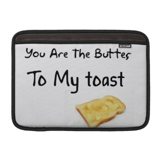 Toast Bread Love Words MacBook Air Sleeves