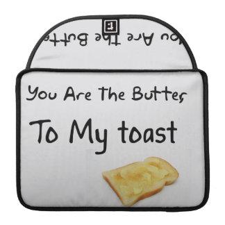 Toast Bread Love Words Sleeves For MacBook Pro