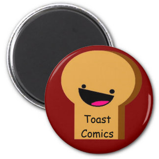 Toast Comics Button 6 Cm Round Magnet