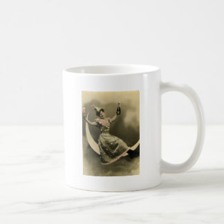 Toast of Champagne on a Crescent Moon Mug