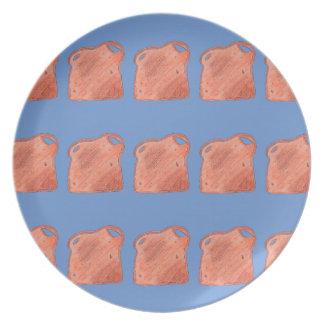 Toast Print Breakfast Plate - A Toast to Toast!