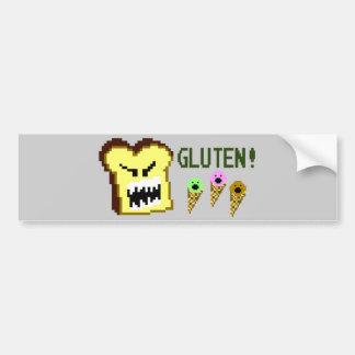 Toast The Gluten Menace 8-Bit Style Bumper Sticker
