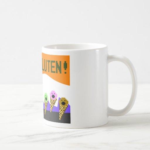 Toast, The Gluten Menace: 8-Bit Style Coffee Mugs