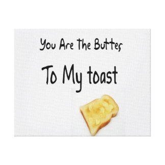 Toasted Bread Love Words Gallery Wrap Canvas