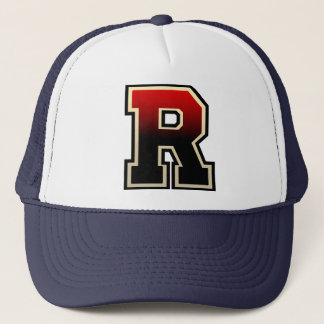 Toasted Letter R Initial Trucker Hat