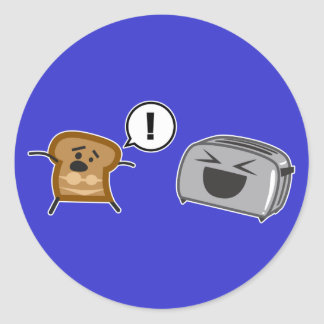 Toasted Toast Tanlines Classic Round Sticker