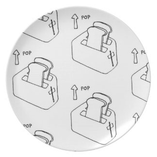 Toaster Breakfast Plate