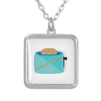 Toaster_Just Add Butter Square Pendant Necklace