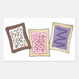 Toaster Pastry Baked Goods Pastries Breakfast Food Rectangular Sticker