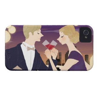 Toasting Glasses iPhone 4 Cases
