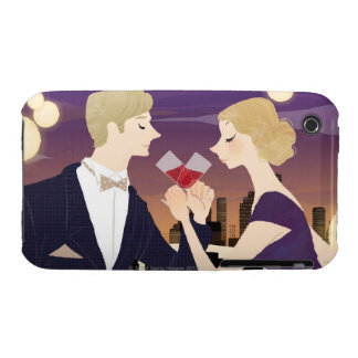 Toasting Glasses iPhone 3 Cover