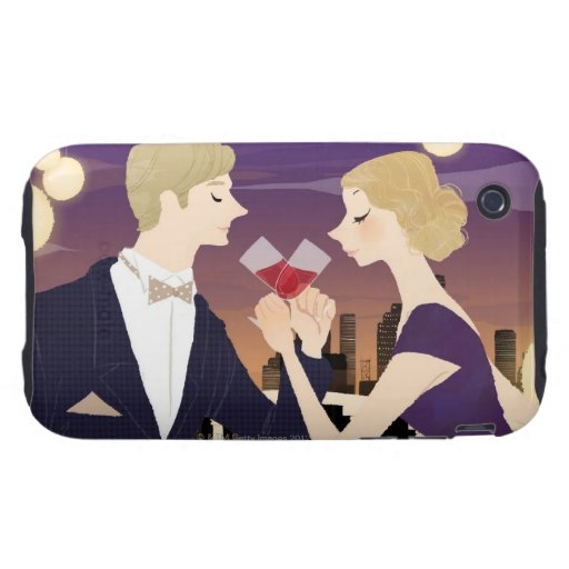 Toasting Glasses iPhone 3 Tough Cover